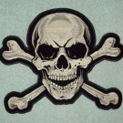 SKULL & CROSSBONES ROCKABILLY MOTORCYCLE JACKET LEATHER VEST MORALE BIKER PATCH