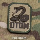 DTOM MULTICM DONT TREAD TACTICAL COMBAT BADGE MORALE PVC VELCRO MILITARY PATCH