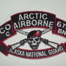 207th Airborne C Co 6th Bn Alaska National Guard MILITARY PATCH - ARCTIC WARRIOR
