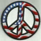 USA FLAG PEACE SIGN MOTORCYCLE JACKET LEATHER VEST BIKER MILITARY PATCH