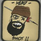 TALIBAN HUNTING SNIPER ONE SHOT ONE KILL HEAD SHOT VELCRO MORALE MILITARY PATCH