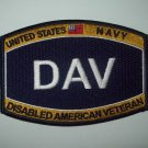 UNITED STATES NAVY DISABLED AMERICAN VETERAN MILITARY RATING PATCH - DAV
