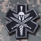 SPARTAN -SWAT- TACTICAL COMBAT MEDIC BADGE SPEC OPS MORALE VELCRO MILITARY PATCH