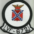 US NAVY AVIATION FIGHTER SQUADRON VF-672 MILITARY PATCH - Rebel 1950s - 68