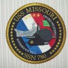 US NAVY USS MISSOURI SSN 780 MILITARY PATCH - VIRGINIA CLASS ATTACK SUBMARINE