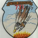 US NAVY VA-731 Attack Squadron SEVEN THREE ONE Military Patch EAGLE WITH BOMBS