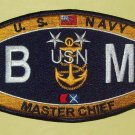 United States NAVY Deck Rating Master Chief Boatswain's Mate Military Patch BMMC
