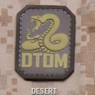DTOM DESERT DONT TREAD COMBAT TACTICAL BADGE MORALE PVC VELCRO MILITARY PATCH