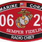 "USMC ""RADIO CHIEF"" 0629 MOS MILITARY PATCH SEMPER FIDELIS"