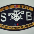 US Navy SPECIAL WARFARE BOAT OPERATOR MOS Ratings Patch - SB - Military Patch