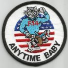 United States NAVY ( ANYTIME BABY ) TOMCAT F-14 MILITARY PATCH  3""