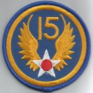 15th AIR FORCE - ARMY MILITARY PATCH - Fifteenth Air Force USAF