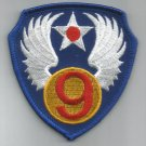 9th AIR FORCE - MILITARY PATCH - NINTH AIR FORCE USAF