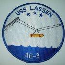 USS LASSEN AE-3 AMMUNITION SHIP MILITARY PATCH