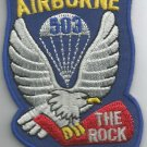 ARMY - 503rd AIRBORNE DIVISION MILITARY PATCH - THE ROCK