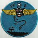 US NAVY AVIATION FIGHTER SQUADRON EIGHT VF-8 MILITARY PATCH GHOST CATS 1943-45
