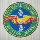 "US NAVAL STATION ""BOSTON, MASS."" MILITARY PATCH"