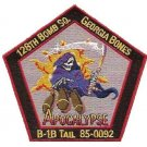 "ANG/USAF 128th BOMB SQUAD ""GEORGIA BONES"" APOCALYPSE B-1B TAIL MILITARY PATCH"