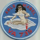 US NAVY VA-735 Attack Squadron Seven Three Five Military Patch ABLE MABEL