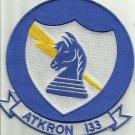 VA133NAVY ATTACK SQUADRON ONE THREE THREE ATKRON 133 BLUE KNIGHTS MILITARY PATCH