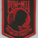 ***POW  MIA  BLACK & RED MILITARY PATCH***