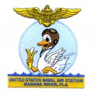 United States Naval Air Station BANANA RIVER, FLA Military Patch - Duck in Water