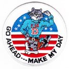 United States NAVY F-14D TOMCAT MILITARY PATCH GO AHEAD - - - MAKE MY DAY