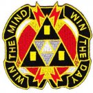 ARMY 9th Psychological Operations BN Military Patch WIN THE MIND WIN THE DAY