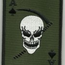 ACE OF SPADES DEATH CARD OD SKULL REAPER MOTORCYCLE JACKET BIKER MILITARY PATCH
