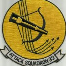 US NAVY VA-32 Aviation Attack Squadron Three Two Military Patch BOW AND ARROW