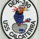 USS CALCATERRA ( DER - 390 ) EDSALL CLASS DESTROYER ESCORT SHIP MILITARY PATCH