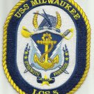 US Navy USS MILWAUKEE LCS-5 Freedom Class Littoral Combat Ship Military Patch