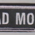 BAD MOFO SWAT BLACK OPS COMBAT ISAF TACTICAL BADGE MORALE VELCRO MILITARY PATCH