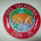 USS CALIFORNIA CGN-36 NUCLEAR POWERED GUIDED MISSILE CRUISER MILITARY PATCH