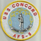 USS CONCORD AFS-5 MARS CLASS COMBAT STORES MILITARY PATCH COMBAT STORES SHIP