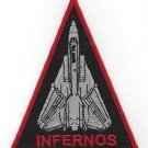 US NAVY VF-301 AVIATION FIGHTER SQUADRON MILITARY PATCH F-14 INFERNOS TRIANGLE