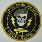 US ARMY D CO 1ST BN 5TH SFG - GHOST RECON - SPECIAL FORCES MILITARY PATCH