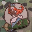 BOMBER PINUP GIRL ARID COMBAT TACTICAL BADGE MORALE VELCRO MILITARY PATCH