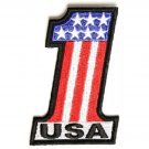 USA NUMBER 1 AMERICAN FLAG MOTORCYCLE BIKER JACKET VEST MORALE MILITARY PATCH
