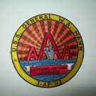 US NAVY - USS GENERAL W.A. MANN (T-AP 112) MILITARY PATCH