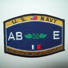 US Navy Aviation Boatswain's Mate Equipment Rating Military Patch  - AB E