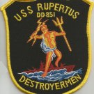 USS RUPERTUS DD-851 TIN CAN DESTROYER SHIP MILITARY PATCH  (version A)