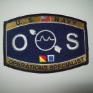 United States Navy OPERATIONS SPECIALIST Ratings Patch - OS - Military Patch