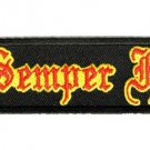 SEMPER FI - USMC -  MOTORCYCLE BIKER JACKET LEATHER VEST MILITARY PATCH