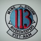 113 RIVER SWEEPERS  MINE ASSAULT DIVISION VIETNAM  MILITARY PATCH INSIGNIA *NEW*