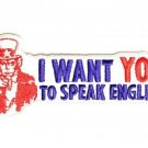 UNCLE SAM SPEAK ENGLISH MOTORCYCLE BIKER JACKET VEST MORALE MILITARY PATCH