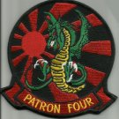 NAVY AVIATION PATROL SQUADRON FOUR VP-4 MILITARY PATCH SKINNY DRAGONS PATRON 4
