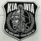 KIA WIA ALL GAVE SOME GAVE ALL MOTORCYCLE JACKETVEST MORALE BIKER MILITARY PATCH