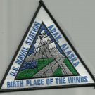 NAS US NAVAL AIR STATION ADAK ALASKA MILITARY PATCH BIRTH PLACE OF THE WINDS