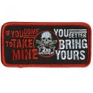 2nd AMENDMENT IF YOU COME TO TAKE MINE BIKER JACKET MOTORCYCLE MILITARY PATCH
